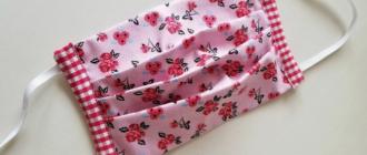 Как изготовить тканевую маску со складками для защиты лица